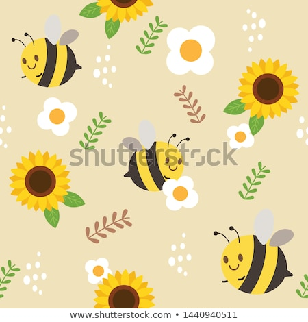 cartoon animals in the flowers garden  Stock photo © aminmario11