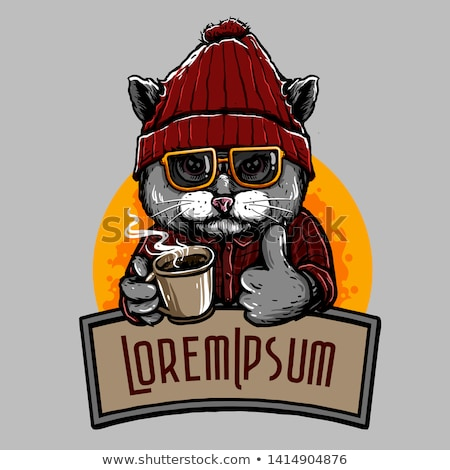 ショップ · 幸せ · 太陽 · 猫 · 夏 - ストックフォト © aminmario11