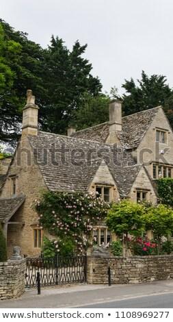 Angol kunyhó templom vidék Anglia ház Stock fotó © manaemedia