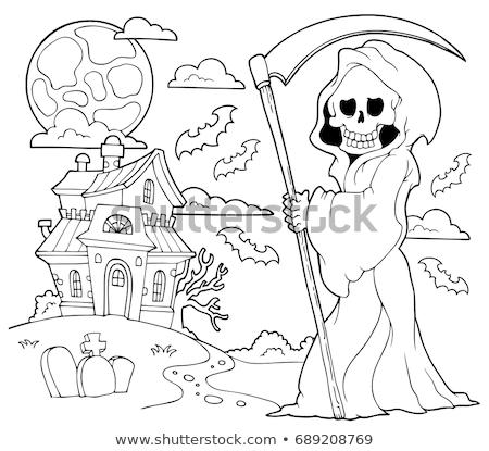 Black and white grim reaper theme 2 Stock photo © clairev