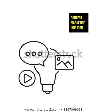 Vásárló eljegyzés firka terv ikonok felirat Stock fotó © tashatuvango