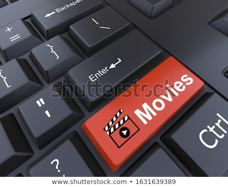 red download now keypad on keyboard 3d stock photo © tashatuvango