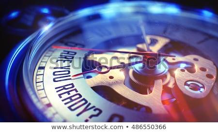 Are You Ready - Wording on Vintage Pocket Watch. 3D. Stock photo © tashatuvango