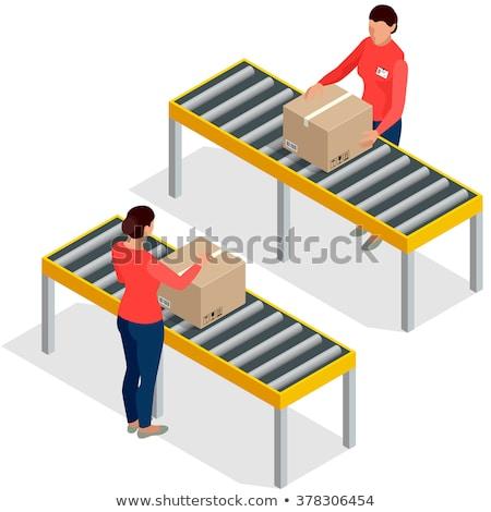 生産 プロセス クリップボード 3D 紙 シート ストックフォト © tashatuvango