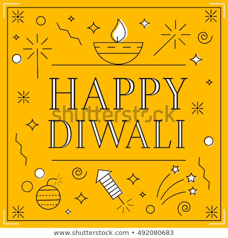 Greeting card Diwali  linear style Stock photo © Olena
