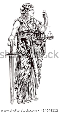 cut out image of the goddess of justice statue  Stock photo © feedough