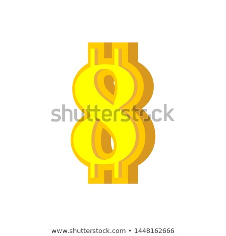8 numeral bitcoin font eight numeric crypto currency alphabet stock photo © popaukropa