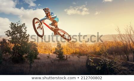 горные прыжки воздуха небе человека Сток-фото © IS2