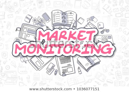 Ellenőrzés rajz magenta szöveg üzlet firka Stock fotó © tashatuvango