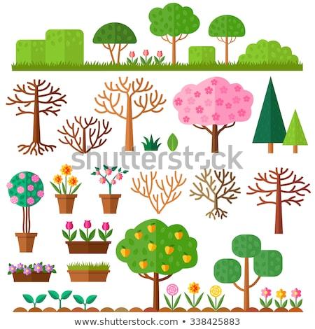 Martwych lasu ikona wektora stylu graficzne Zdjęcia stock © ahasoft
