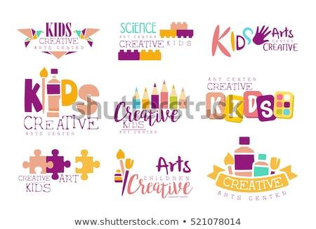 Stock photo: classes Origami  logo