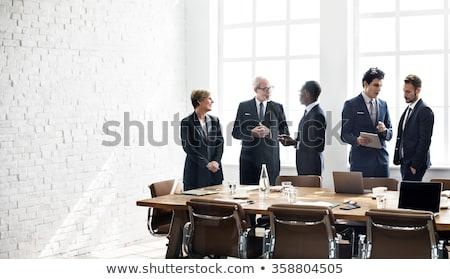 деловой · человек · конференции · таблице · бизнеса · женщину · служба - Сток-фото © IS2