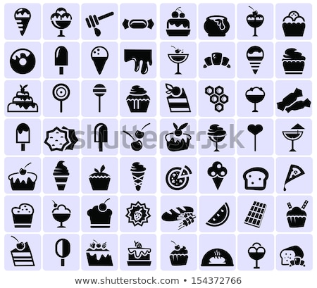 Pastries cakes and ice cream icon set Stock photo © frescomovie