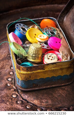 Sewing Kit Box Stock photo © lenm