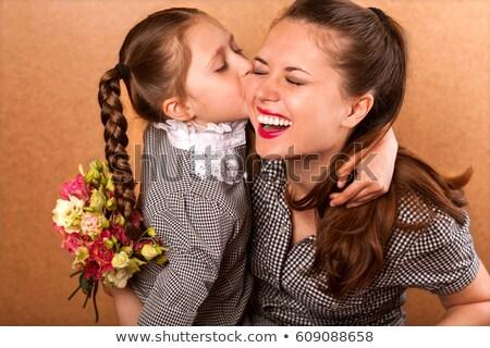 дочь матери цветы цветок закрывается красоту Сток-фото © IS2