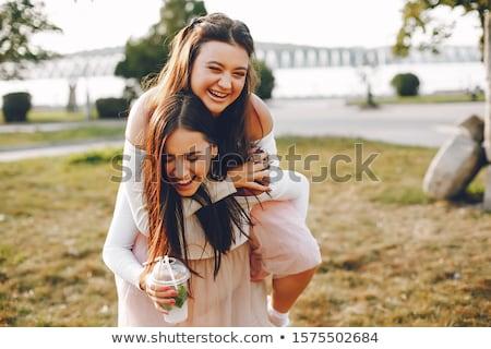 笑みを浮かべて · 女性実業家 · 見える · 将来 · 孤立した · 白 - ストックフォト © is2