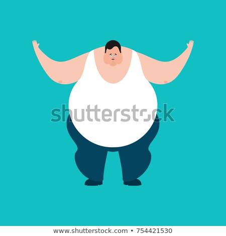 Сток-фото: жира · счастливым · парень · стороны · лице · человека