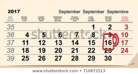 16 Oktoberfest naptár sör bögre emlékeztető Stock fotó © orensila