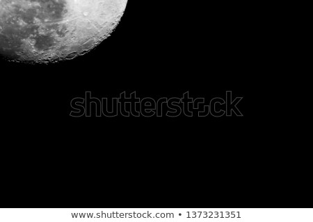 waxing gibbous moon with copy or text space on right stock photo © suerob