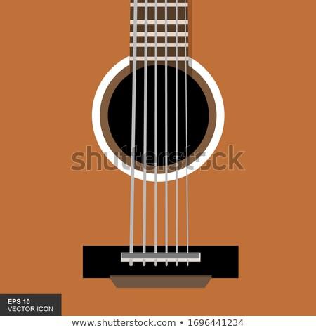 gitaar · spelen · hand · witte - stockfoto © photo25th