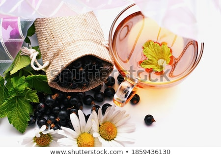 Ripe berries in a Cup on light rustic background stock photo © Valeriy
