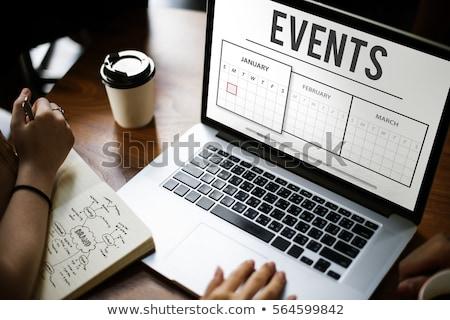 Evento planificación bombilla celebración champán Foto stock © Lightsource