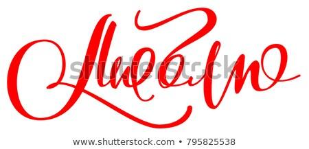 Wie Text Hand geschrieben Übersetzung Stock foto © orensila