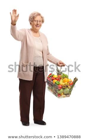фермер · яблоки · органический · фрукты · Фермеры · рук - Сток-фото © is2
