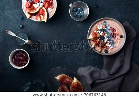 イチゴ · スムージー · ボウル · 健康 · 果物 - ストックフォト © m-studio