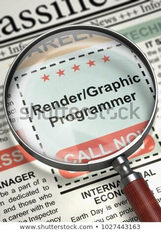 Rendergraphic Programmer Job Vacancy. 3D. Stock photo © tashatuvango