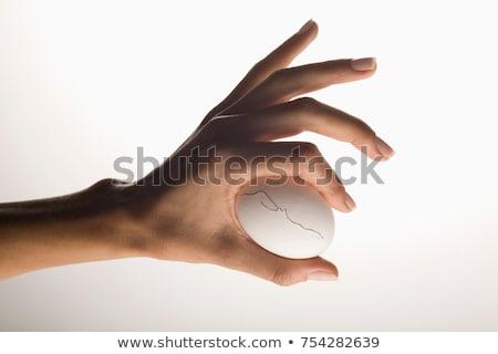 Mão ovo rachar mulher horizontal Foto stock © IS2