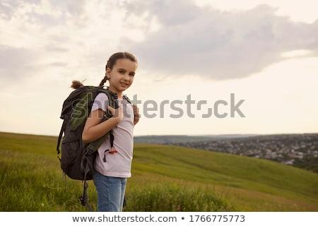 Kid Girl Wanderlust Stock photo © lenm