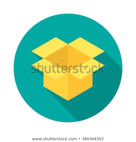 Courier with delivery box icon in flat style Stock photo © studioworkstock