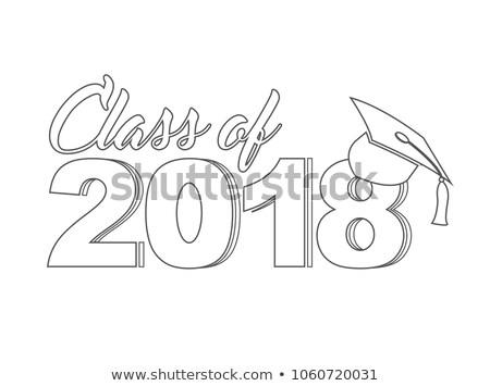 Class of 2018 line sign Illustrator. design graphic Stock photo © alexmillos