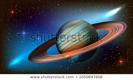 saturn space planet rings of saturn vector illustration stock photo © popaukropa