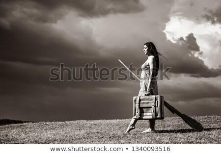 молодые ведьмой травой поле метлой Storm день Сток-фото © Massonforstock