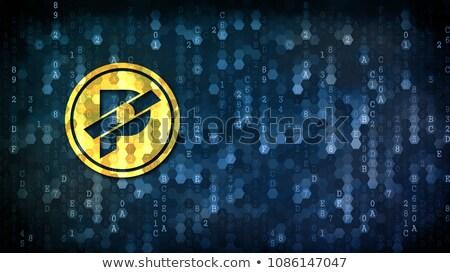 érme illusztráció digitális grafikus szimbólum hálózat Stock fotó © tashatuvango