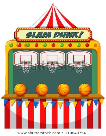 Slam dunk carnival stall Stock photo © bluering
