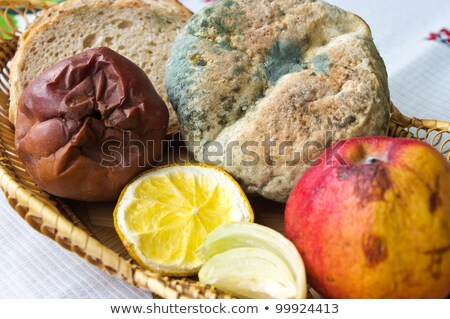 Vuile beschimmeld voedsel onzin illustratie keuken Stockfoto © bluering
