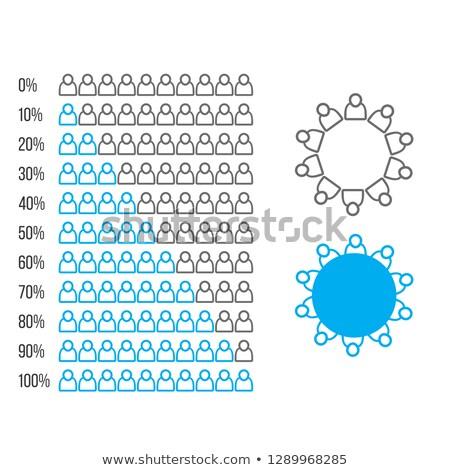 Utilisateur icône élément statistique hiérarchie Photo stock © kyryloff