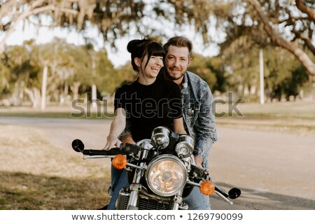 Girl Being Silly on a Bike Stock photo © 2tun