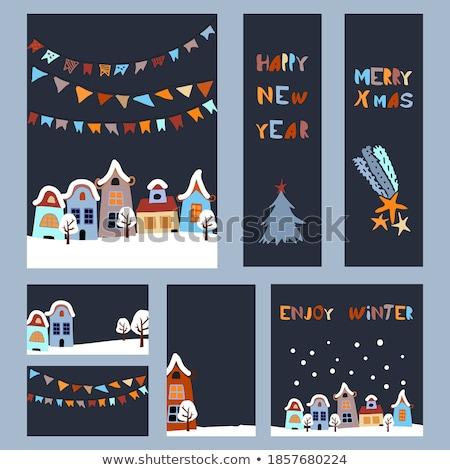 Vektör Noel imi ayarlamak Stok fotoğraf © kostins