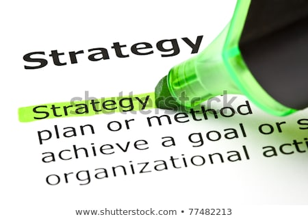 strategy highlighted in green stock photo © ivelin