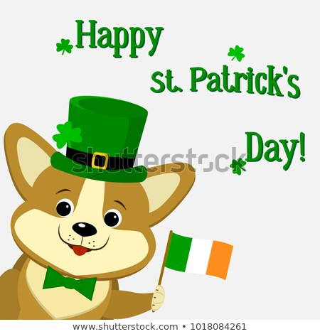 Cartoon Smiling Irish Puppy Stock photo © cthoman