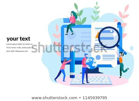 Сток-фото: цифровой · маркетинга · плакат · текста · образец · стороны