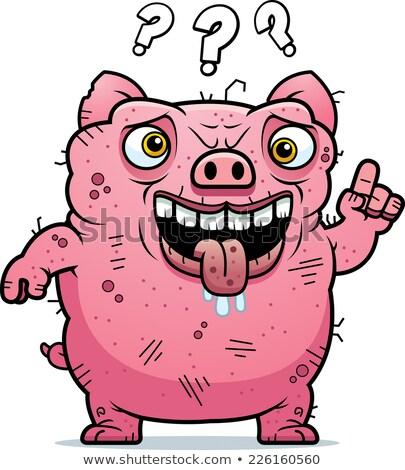 путать уродливые свинья Cartoon иллюстрация глядя Сток-фото © cthoman