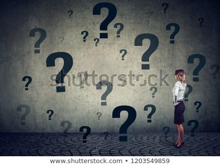 kérdések · döntéshozatal · bizonytalanság · köteg · színes · cetlik - stock fotó © ichiosea