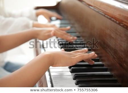 люди играет музыкальные инструменты музыки отмечает иллюстрация музыку Сток-фото © colematt