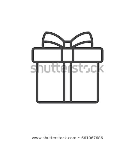natal · apresentar · caixa · dourado · flocos · de · neve · preto - foto stock © dashadima