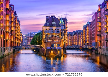speicherstadt in hamburg germany in the evening stock photo © franky242